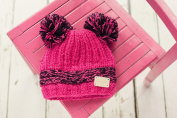Blade and Rose Pink Double Bobble Hat