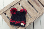Blade and Rose Black Double Bobble Hat
