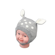 Livecity Winter Baby Boy Girl Beanie Hat Warm Cute Rabbit Ear Toddler Knitted Cap Gift