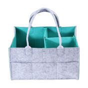 Foldable Baby Nappy Caddy Organiser, Kobwa Portable Nursery Storage Bin Basket Car Organiser, Nappy Changing Table Organiser for Nappies, Baby Wipes and Toys, Newborn Registry Baby Shower Gift