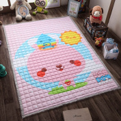 Ustide Baby Crawling Mat Baby Toy Play Mat Carpet Child Game Pad Blanket Picnic Mat,Pink,150cm x 200cm