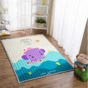 Ustide Cute Elephant Design Baby Play Mat for Floor,Washable Crawling Mat For Baby,Large Size 150cm x 200cm