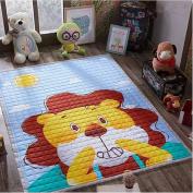 Ustide Baby Play Mat Cotton Floor Gym - Non-Toxic Non-Slip Reversible Washable,Lion,150cm x 200cm