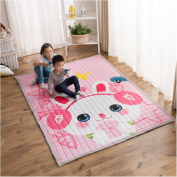 Ustide Thick Cotton Baby Crawling Cushion Non-slip Fresh Style Toddlers Mat Kids Play Mat Kids' Room Rug Activity Floor Carpet,Cute Rabbit
