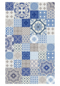 Huella Deco h1001-ca-xs Azulejos Rug Carpet Mat Floor, Vinyl, 57 x 96 cm