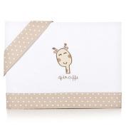Piccolandy 1450237078260 – Linen Baby Cot with Giraffe Design, Beige