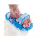 Shower Foot Feet Cleaner Scrub Scrubber Cleaner Washer Easy Exfoliating Bath Brush Pumice Stone Spa Massager