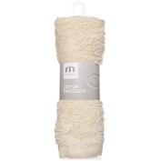 Meridiana Cotton Facecloth, Cream