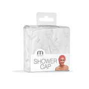 Meridiana Broderie Anglaise Style Shower Cap, White