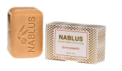 Nablus Soap Natural Pure Olive Oil Pomegranate, for dry skin, extra gentle, made in Palestine, free of palm oil and artificial ingredients, handmade from 80% extra virgin olive oil, 100g