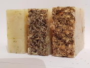 Handmade soap x 3 -Lavender and chamomile/ relaxing lavender and aloe vera and Lime soap - The perfume People