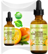 Botanical Beauty SUPREME ORGANIC PUMPKIN SEED OIL .100% Pure / EXTRA VIRGIN / UNREFINED / Natural / Undiluted Cold Pressed Carrier Oil for Skin, Hair, Lip and Nail Care.