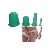 Ikeepi Body Cups Vacuum Silicone Cupping Set Anti Cellulite Cup Body Massage Therapy, 4 Pcs