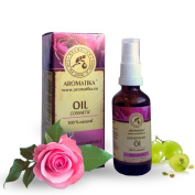 Facial Oil, 50 ml Natural Face Oil with pure and natural 100% Jojoba Oil, Grape Seed Oil, Lime Oil, Neroli, Rose Oil and Sandalwood Oil, Oil for Face care, Day Cream, Anti-Ageing, Anti-Wrinkle Oil, Skin Care Oil for All Skin Types,Natural Cosmetic by A ..