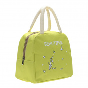 Lunch Bag Kitchen Organizer Oxford Cloth Cartoon Print Handy Insulated Picnic School Lunch Bags Storage Bag Green