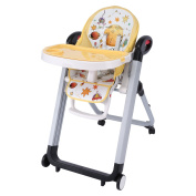 Smibie 4 in 1 Baby Highchair with Tray Portable Dining Chair Reclining Chair,Yellow
