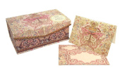 Decorative Butterfly and Gold Crown Music Box Notecard Set by Punch Studio