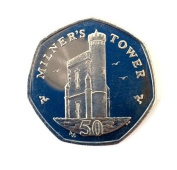 20015 Isle Of Man Milner's Tower 50p Fifty Pence Unc 7 Side Coin