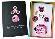 Original Envolve Pink Fidget Camouflage Cube and Tri-Spinner Combo – For focus, calm anxiety, and break nervous habits. Long spin times (Gift Packaging)