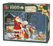 KING 5653 Santa Relaxing Outside Jigsaw Christmas Puzzle