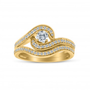 3/4ct tw Diamond Bridal Set in 10k Yellow Gold