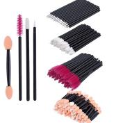Disposable Eyelash Mascara Brushes - 200 Pcs Disposable Eyelash Mascara Brushes Wands Applicator Eyebrow Brush Makeup Kit