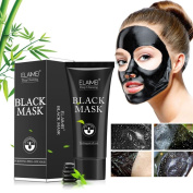 Transer® Blackhead Remover Skin Care Cream Deep Clean Purifying Bamboo Charcoal Black Mud Face Mask