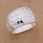 Crocodile Textured Sterling Silver Ring 7.5 / Silver