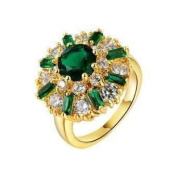 Empress of Emeralds 2ct Green Austrian Crystal Flower Cocktail Ring 6