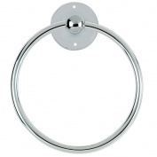 Chrome Towel Ring Luxury Round Hand Ring Holder Wall Mounted For Kitchen Bathroom Accessory Bath Toilet