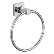 """MSV """"Lucca"""" Zinc/Chrome Hand Towel Ring, Silver, 15 cm"""