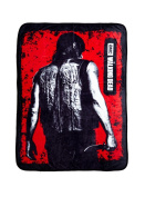 AMC The Walking Dead Daryl Red Coral Fleece Throw Blanket 45x60