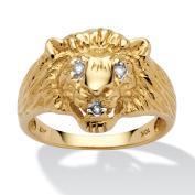 Men's Diamond Accent 10k Yellow Gold Lion's Head Ring