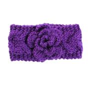Kids Baby Infants Warm Wool Crochet Headband Turban Stretch Flower Hairband