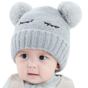 Baby Hats , Honestyi Children Baby Novelty Winter Beanie Gilrs Boys With Faux Fur Kniting Hat , knit Cotton