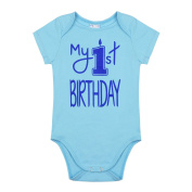 iiniim Infant Baby Boys Short Sleeves 1st Birthday Outfit Romper Bodysuit Jumpsuit Party