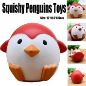 Cute Penguins Squishy Slow Rising Cream Scented Decompression Toys Relieves Stress Soft Toy for Children and Adults Pretty Gifts