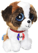 TY Beanie Boo – Duke's Plush Cuddly Dog – TY36844 I Love Paris – 15 cm