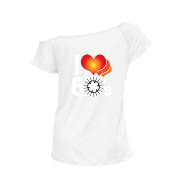 YTHH Fashion Ladies I Love The 80s T Shirt Dance Party Fancy Neon Costume Clothes Fashion Top