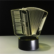 Lh & Fh Accordion 3D Colourful Remote Control Touch LED Creative Gift Lamp , touch