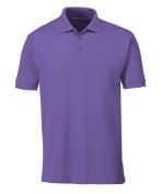 Alexandra STC-NM231PU-5XL Unisex Polo Shirt, Plain, 65% Polyester/35% Cotton, 5X-Large, Purple