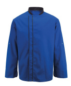 Alexandra STC-NU572RO-4XL Chef's Coloured Contrast Jacket, Plain, 67% Polyester/33% Cotton, Size