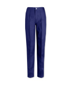 Alexandra STC-W40NA-22A Women's Flat Front Trouser, Plain, Extra Tall, 67% Polyester/33% Cotton, Size