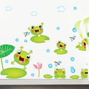 ZHUOTOP Frog Wall Stickers Kindergarten Children Bedroom Bathroom Wallpaper Decals