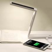 Led Solar Charge Treasure Folding Touch Dimming Eye Dorm Dormitory Learning Students Creative Lamp,White,Long 20cm