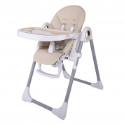 Smibie 4 in 1 Baby Highchair with Tray Portable Dining Chair Reclining Chair,Champagne