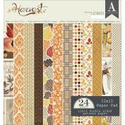 Authentique Double-sided Cardstock Pad 30cm x 30cm 24/pkg-harvest, 12 Designs/2 Each