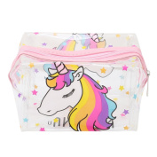 Lalang Unicorn Make Up Bag Transparent Cosmetic Pouch Cute Wash Bag Toiletry Beauty Organiser
