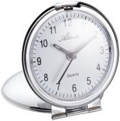 Atlanta Travel Alarm Clock Analogue Silver 1123