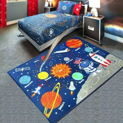 Planet carpet, rectangular, children's carpet, crawling auxiliary mats, (100X130cm) for each child's exploration and growth series